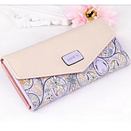 Women Bags PU Checkbook Wallet for Casual All Seasons Pale Blue Cyan Light Purple