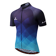 cheap -Miloto Men's Short Sleeve Cycling Jersey Bike Jersey, Quick Dry, Reflective Strips Polyester, Coolmax®