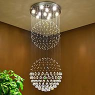 LED krystall tak anheng lys innendørs lysekroner hjemme hengende belysning lamper inventar med 5w led varm hvit pærer