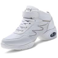 baratos Sapatilhas de Dança-Mulheres Sapatos Couro Ecológico Primavera / Outono Conforto Tênis Sem Salto Branco / Preto
