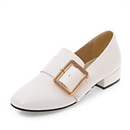 Damen Loafers & Slip-Ons Komfort Gladiator Kunstleder Sommer Herbst Normal Kleid Komfort Gladiator Block Ferse Weiß Schwarz Beige 5 - 7 cm