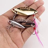 billiga Fiske-1 st Metallbete Vibration Fiskbete Metallbete Vibration Metallegering Sjöfiske Spinnfiske Trolling & Båt Fiske Drag-fiske Abborr-fiske