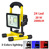 halpa -Käsivalaisimet LED 2000 lumens 3 lighting mode Hälytys / Iskunkestävä / Hätä Telttailu / Retkely / Luolailu / Päivittäiskäyttöön / Pyöräily Musta / keltainen