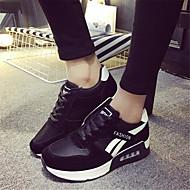 Damen Schuhe PU Frühling Komfort Sneakers Für Normal Schwarz Fuchsia