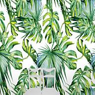 Trær / Blader Art Deco 3D Tapet til Hjemmet Nyhet Tapetsering , Lerret Materiale selvklebende nødvendig Veggmaleri , Tapet