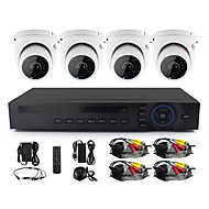 Yanse® 2.8mm lens 4 ch 720p hd kablolu cctv kamera dvr kit ir sugeçirmez güvenlik izleme sistemi ev 1.0mp