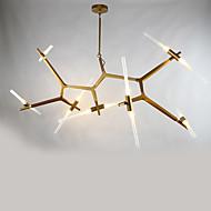 14 fej található modern alumínium üveg csillár lámpa a hálószoba / kantin szoba / bár / kávéház díszíti függő lámpa