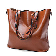 Women Bags All Seasons PU Tote for Casual Outdoor Black Brown Wine