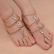 בגדי ריקוד נשים תכשיט לקרסול/צמידים ברזל (ניקל מצופה) סגסוגת אופנתי תכשיטים טיפה תכשיטים עבור יומי בגדי שטח ליציאה