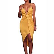 Mulheres Bainha Vestido Sólido Decote V