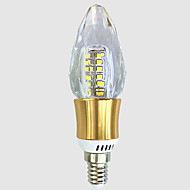 billige Stearinlyslamper med LED-5W 550-600 lm E14 LED-lysestakepærer C35 40 leds SMD 2835 Varm hvit Hvit AC 220V