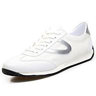 Herrer Sneakers Komfort Stof Forår Efterår Flad hæl Sort Sølv Grøn Flad