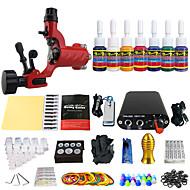 Starter Tattoo Kit 1 cast iron machine liner & shader Tattoo Machine Mini power supply 7 × 5ml Tattoo Ink 1 x alloy grip