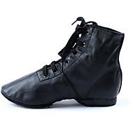 お買い得  ダンスシューズ-女性用 ジャズ レザー レザーレット フラット ヒール レッスン用 フラットヒール ブラック オーダーメイド可