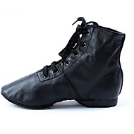 billige Jazz-sko-Dame Jazz Lær Kunstlær Flate Høye hæler Trening Flat hæl Svart Kan spesialtilpasses