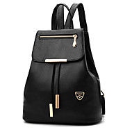 Women Bags Spring All Seasons PU Backpack Rivet Ruffles for Event/Party Casual Formal Outdoor Office & Career Black Dark Blue Gray Wine