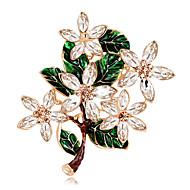 hesapli -Kadın's Genç Kız Broşlar Eşsiz Tasarım Moda Euramerican Elyapımı alaşım Flower Shape Mücevher Uyumluluk Özel Anlar Davet/Parti Günlük
