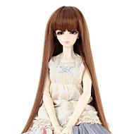 Naisten Synteettiset peruukit Suora Medium Auburn Otsatukalla Doll Wig puku Peruukit