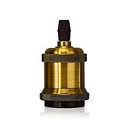 1 stk e26 / e27 skrue lyspære socket edison retro anheng lampe holder uten ledning og bryter