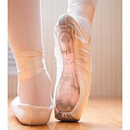 billige Ballettsko-Dame Ballettsko Blonder / Silke / Tekstil Flate Flat hæl Kan spesialtilpasses Dansesko Rosa / Trening