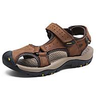 baratos Sapatos Masculinos-Homens Pele Napa Verão / Outono Conforto Sandálias Água Castanho Claro / Castanho Escuro / Khaki