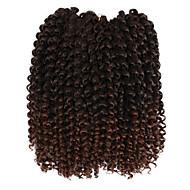 """צמות מתולתלות צמות שיער צמות קרוקט מסולסל 10"""" שיער סינטטי הבינוני אובורן שחור / בינוני אובורן שחור / בורגונדי חום בינוני גריי Gradient"""