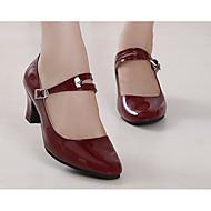 baratos Sapatilhas de Dança-Mulheres Sapatos de Dança Moderna Couro Envernizado / Couro Ecológico Salto Sapatos de Dança Preto / Vermelho Escuro / Vermelho / Ensaio / Prática