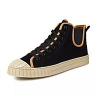 Χαμηλού Κόστους Black High Tops-Ανδρικά Παπούτσια PU Άνοιξη Φθινόπωρο Ανατομικό Αθλητικά Παπούτσια Κορδόνια για Causal Μαύρο Μπλε Ανοικτό Καφέ