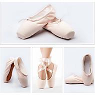 Dame Ballett Lerret Flate Hel såle Trening Nybegynner Profesjonell Innendørs Opptreden Flat hæl Mandel Kan ikke spesialtilpasses