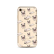 Etui Käyttötarkoitus Apple iPhone X iPhone 8 Plus Läpinäkyvä Kuvio Takakuori Tiili Koira Pehmeä TPU varten iPhone X iPhone 8 Plus iPhone
