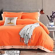 cheap Solid Duvet Covers-Solid 4 Piece Cotton Solid Cotton 1pc Duvet Cover 2pcs Shams 1pc Flat Sheet