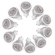 billige Spotlys med LED-3W 260-300 lm GU10 LED-spotpærer MR16 3 leds Høyeffekts-LED Mulighet for demping Varm hvit Hvit AC 220-240V
