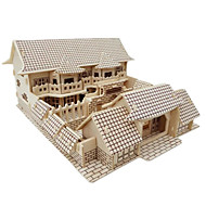 cheap -3D Puzzles Jigsaw Puzzle Wood Model Model Building Kits Famous buildings Chinese Architecture Architecture 3D DIY Simulation Wooden Wood