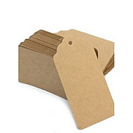 cheap Practical Favors-50pcs Brown Kraft Paper Tag 9.5*4.5cm/pcs DIY Wedding Favor Beter Gifts® Practical DIY Thank You Tag
