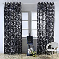 baratos Cortinas Transparentes-Sheer Curtains Shades Quarto Floral Gravado