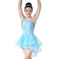 billige Udsalg-Ballet Kjoler Dame Ydeevne Tyl / Pailletter / Lycra Niveauer / Draperet / Krøllede Folder Uden ærmer Naturlig Kjole / Hovedtøj / Moderne Dans / Opvisning