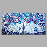 IARTS® Hand Painted Modern Abstract Magic Purple Color Tree Oil Painting On Canvas with Stretched Frame Wall Art For Home Decoration Ready To Hang