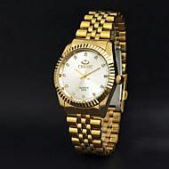 CHENXI® Pánské Náramkové hodinky Křemenný Japonské Quartz Hodinky na běžné nošení Nerez Kapela Zlatá