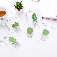 1 pc cactus zelfstandige notities 30 pagina (willekeurige kleur)