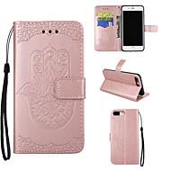 Capinha Para Apple iPhone 7 Plus iPhone 7 Porta-Cartão Carteira Com Suporte Flip Com Relevo Capa Proteção Completa Outro Rígida PU Leather