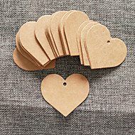 cheap Practical Favors-50pcs Brown Kraft Paper Tag 5.5*5cm/pcs DIY Wedding Favor Beter Gifts® Practical DIY Thank You Tag