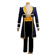 Prins Eventyr Cosplay Kostumer Herre Dame Klassisk & Tidløs Halloween Karneval Festival / Højtider Halloween Kostumer Udklædning Gul+Blå Ensfarvet