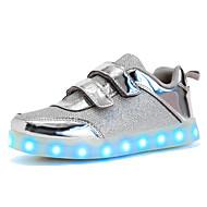 tanie Obuwie dziewczęce-Dla dziewczynek Buty Syntetyczny Zima Jesień Świecące buty Tenisówki LED na Ślub Casual Na wolnym powietrzu Gold Silver Różowy