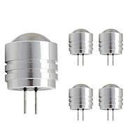 baratos Luzes LED de Dois Pinos-5pçs 1W 90lm G4 Luminárias de LED  Duplo-Pin T 1 Contas LED LED de Alta Potência Branco Quente Branco Frio 12V