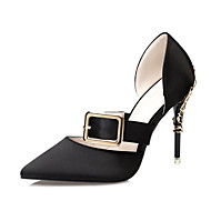 Žene Cipele PU Ljeto Inovativne cipele Sandale Stiletto potpetica Krakova Toe Kopča za Vjenčanje Formalne prilike Zabava i večer Crn