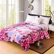 billiga Filtar och plädar-Super Soft Blomma Polyester filtar