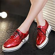 Kadın Ayakkabı PU Bahar Rahat Oxford Modeli Uyumluluk Günlük Kırmzı