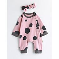 Dijete Uniseks Pamuk Na točkice Proljeće/Jesen Dugih rukava Jednodijelno Blushing Pink