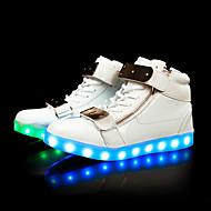 Masculino Tênis Solados com Luzes Tênis com LED Outono Inverno TPU Casual Festas & Noite LED Salto Baixo Branco Preto Menos de 2,5cm