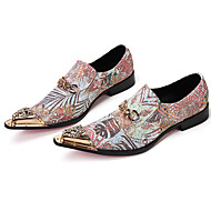 Men's Formal Shoes Nappa Leather Fall / Winter Loafers & Slip-Ons Hiking Shoes Gold / Party & Evening